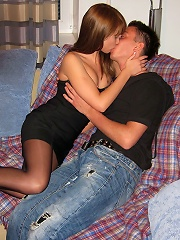 Sex with gal in pantyhose