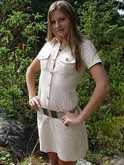Josie explores nature exposes bootie