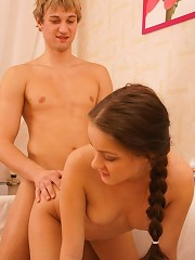 This young teen couple likes to fuck all the time