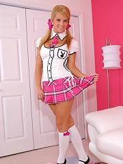 Makenzie plays schoolgirl dress up