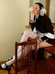 Girl in school-uniform