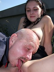 Teenager banging an old horny guy